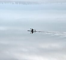 Paddling in the Clouds, Ottawa River by Debbie Pinard