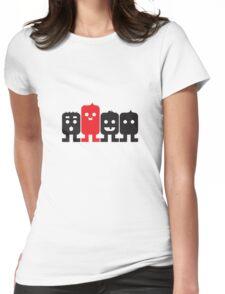 4 Little Robots Womens Fitted T-Shirt