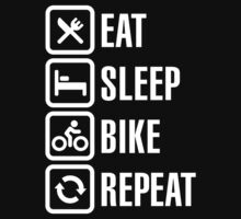 Eat, sleep, bike, repeat T-Shirt