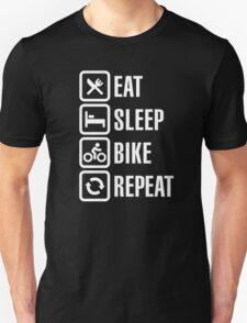 Eat, sleep, bike, repeat Unisex T-Shirt