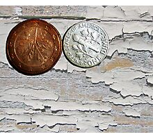 Two Coins - 2 Photographic Print