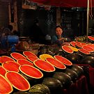 Watermelon in Chiang Rai's Market by Duane Bigsby