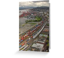 Vancouver Downtown East Side From Above Greeting Card