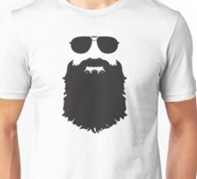 AVIATOR GLASSES AND BEARD Unisex T-Shirt