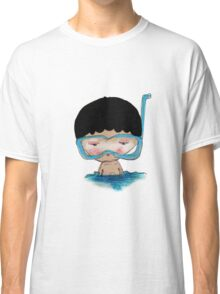 He Decided to go swimming big blue googly goggles and all, tee - by Beatrice Ajayi Classic T-Shirt