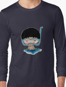 He Decided to go swimming big blue googly goggles and all, tee - by Beatrice Ajayi Long Sleeve T-Shirt