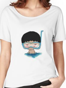 He Decided to go swimming big blue googly goggles and all, tee - by Beatrice Ajayi Women's Relaxed Fit T-Shirt