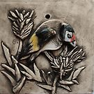 Goldfinch on Thistle by Susan Duffey