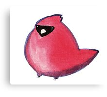 Kawaii Watercolor Cardinal Canvas Print