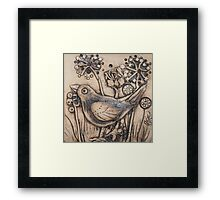 Blackbird Among Cow Parsley Framed Print