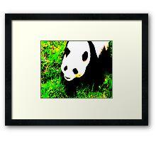 PANDA!monium - green Framed Print