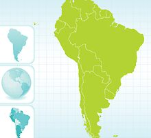 Continent Maps - South America Final by totorat