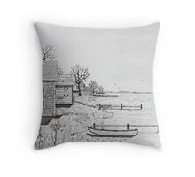 Rippled Waters Throw Pillow