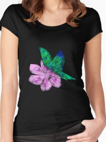 Origami Butterfly Women's Fitted Scoop T-Shirt