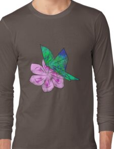 Origami Butterfly Long Sleeve T-Shirt