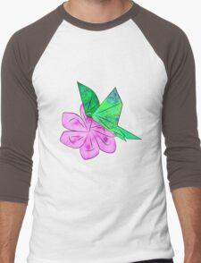 Origami Butterfly Men's Baseball ¾ T-Shirt
