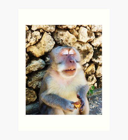Drunk Monkey Art Print