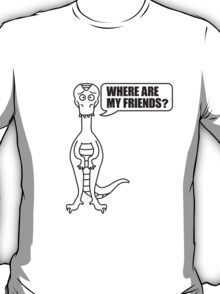 Where Are My Friends Dino T-Shirt