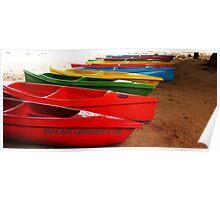 Belitung Canoes Poster
