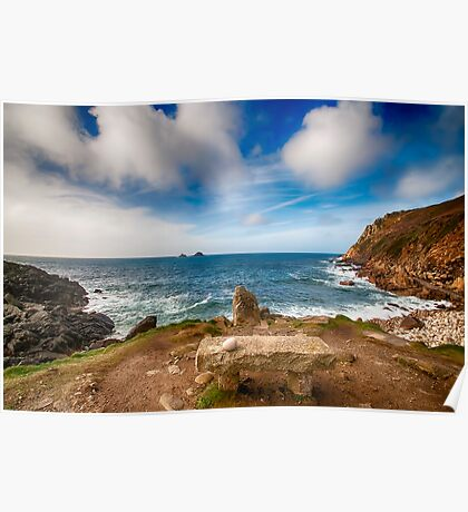 Seat with a view Cot Valley Cornwall Poster