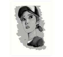 The Walking Dead Season 2- Clementine Art Print