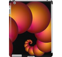 Orange Red Spiral Spheres iPad Case/Skin