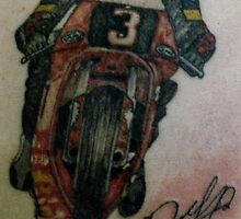 Joey Dunlop signed Tattoo by Paddyta2s