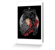 Bad Wolf-Black Greeting Card