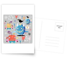funny monsters Postcards