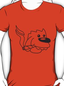 Funny High Dog Face With Joint T-Shirt