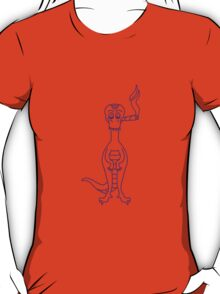 Funny High Dino With Joint T-Shirt
