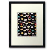 funny portraits of cats Framed Print