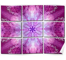 Pink Floral Tiled Poster