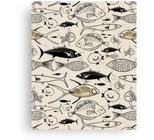graphic fish Canvas Print