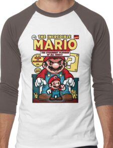Incredible Mario Men's Baseball ¾ T-Shirt