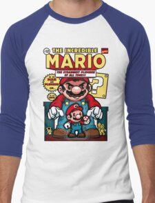 Incredible Mario Men's Baseball ¾ T-Shirt