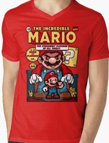 Incredible Mario Mens V-Neck T-Shirt