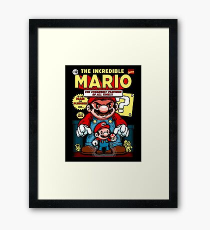 Incredible Mario Framed Print