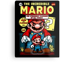 Incredible Mario Metal Print