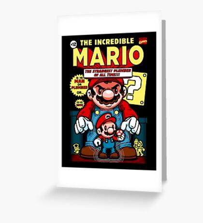 Incredible Mario Greeting Card