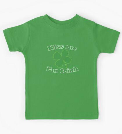 St Patrick's Kiss Me Im Irish Kids Tee