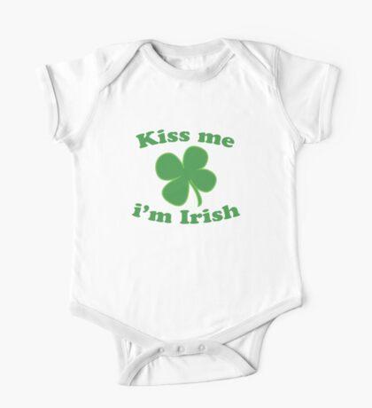 St Patrick's Kiss Me Im Irish One Piece - Short Sleeve