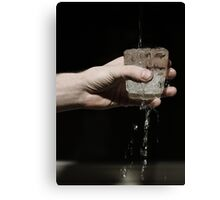 Cold Water in a glass Canvas Print