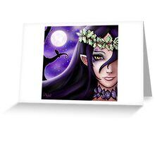 Rhylast The Moon Goddess Greeting Card