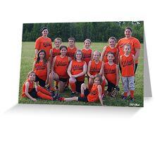 Wildcats softball team Greeting Card