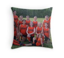 Wildcats softball team Throw Pillow