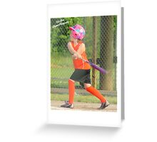 softball Greeting Card