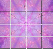 Soft Pink Fractal Tiled by Tori Snow