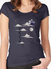 He lives on a cloud in the sky Women's Fitted Scoop T-Shirt