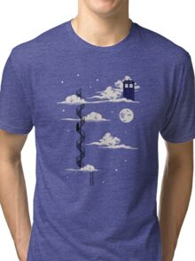 He lives on a cloud in the sky Tri-blend T-Shirt